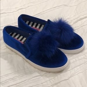 Betsey Johnson Blue Velvet Shoes